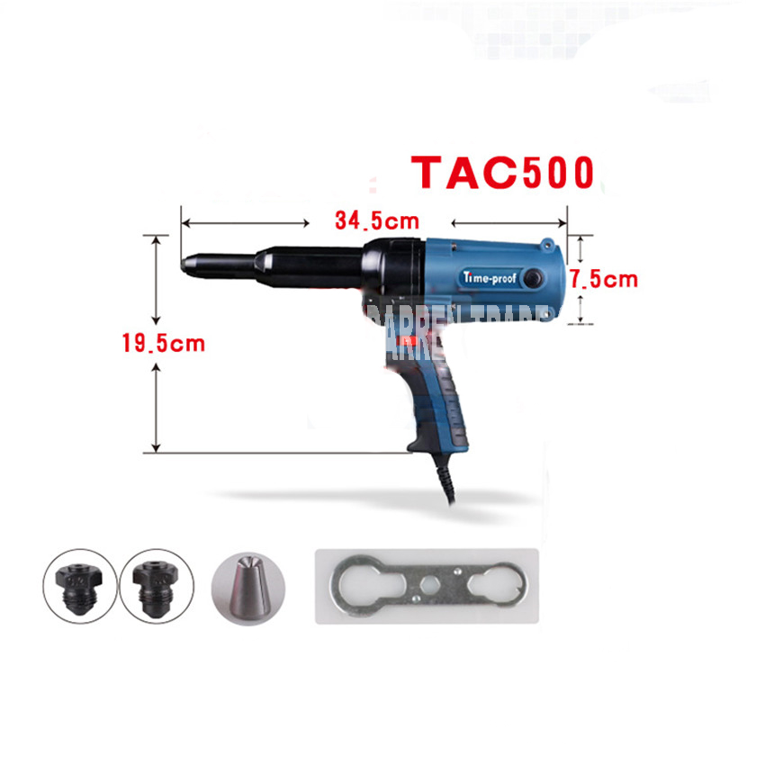 Tools : TAC 500 Electric Blind Rivets Gun Riveting Tool Electrical Power Tool 400W 220V For 3 2-5 0mm High Quality