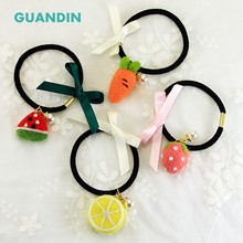 GUANDIN,Hair Ring Wool Felt Needle Felting Craft for DIY & Handmade Gift/Ornaments/Fruit Series 1Piece/Pack(China)