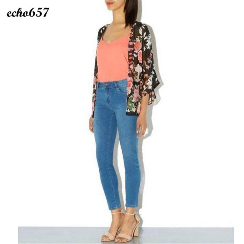 Hot Echo657 New Fashion Women Casual  1PC Vintage Retro Floral Loose Shawl Kimono Boho Chiffon Cardigan Coat Jacket Nov 18