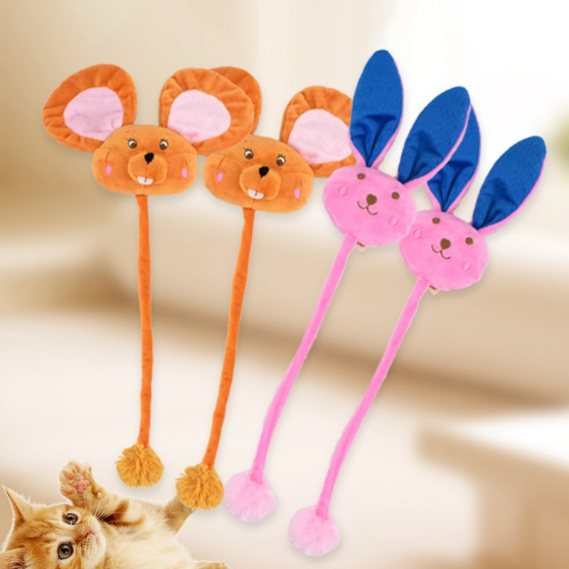 Cat Toys Catnip Cartoon Doll Toy With Long Tail Interactive Scratcher Tease Cat Toy For Solving Boredom Cat Supplies Pet Product