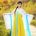 Новый костюм феи Hanfu одежды Династии Тан принцесса косплей розовый древняя леди широкими рукавами костюмы Китайского классического танца