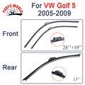 Combo da Borracha de Silicone Frente E Lâminas Do Limpador Traseiro Para VW Golf 5 2005-2009, Limpa-pára-brisas Acessórios Do Carro