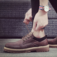 2019 new spring and autumn England retro fashion casual shoes boots man