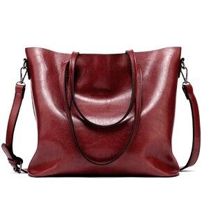 Image 4 - מותג נשים עור תיקי נשים של PU Tote תיק גדול נשי כתף שקיות Bolsas Femininas פאטאל שק עיקרי חום שחור אדום