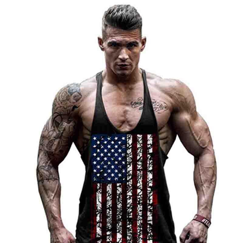 2019 Neuer Stil Mode 2019 Sommer Sport Gym Usa Gedruckt Vintage Muscle Süße Jogger Männlichen Feste Bodybuilding Golds Männer Unterhemd Tank Top GüNstige VerkäUfe