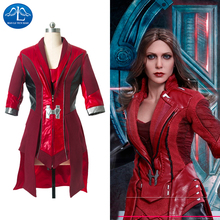 Womens The Avengers 2 Scarlet Witch Cosplay Costume Coat Factory Price Wholesale Good Quality