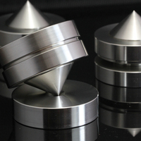 39mm S304 Stainless Steel Speaker Shockproof Spike Amplifier Adjustable Isolation Stand Feet Holder Damping Nail Base Pad