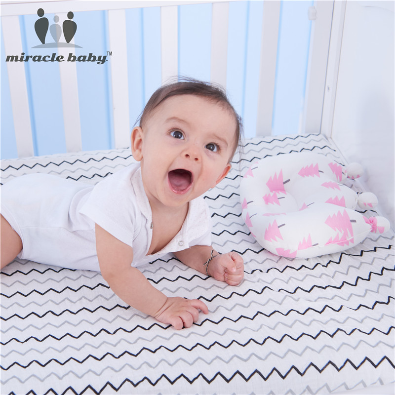 New Arrival and Comfortable 100% Pure Cotton Baby Protection Crown Pillow Anti Apnea Shaping Pillow for Babies