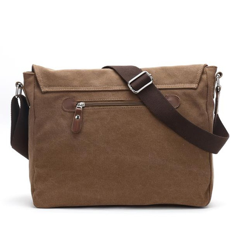 e351cd4f2 Work bag Salesman crossbody canvas Coffee shoulder bag men business army  style travel College package Men's Satchel Postman bag-in Crossbody Bags  from ...