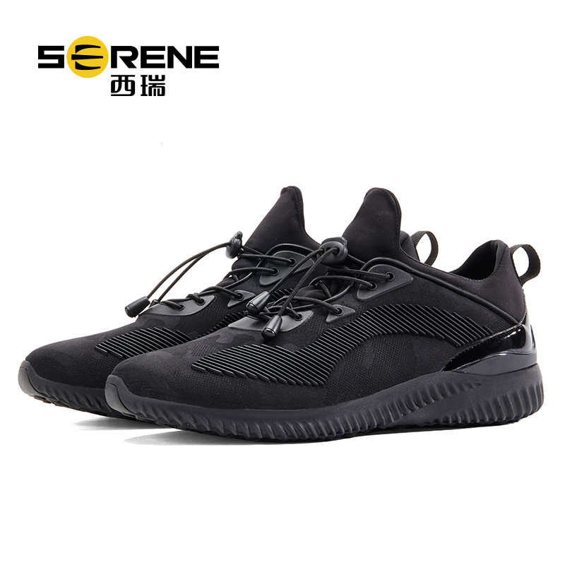 High quality Men Shoes Male Sport flats Light Weight Elastic Lace-up Black Breathable Mesh Man shoes Comfortable Wear Warm Fur men shoes summer breathable lace up mesh casual shoes light comfort sport outdoor men flats cheap sale high quality krasovki