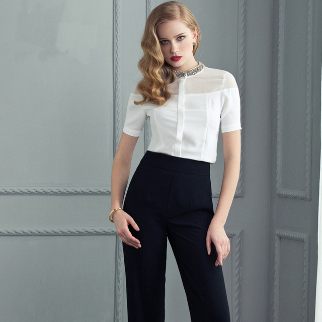High Quality Woman Shirt With Trousers Twinset Ladies Uniform