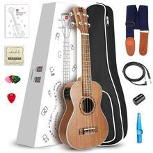 Vangoa 21 Soprano 23 Concert 26 Tenor Mahogany Acoustic Electric Ukulele with Ukulele Accessories