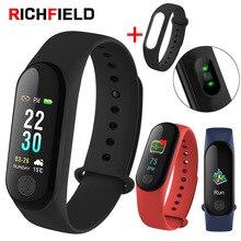 Купить с кэшбэком RICHFIELD M3 Plus Smart Bracelet Fitness Tracker Activity Fitness Bracelet Band Smart Band Pedometer Smart Watch For Men Women
