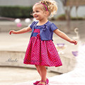 kids girl summer clothes dress suit floral dresses+purple coat 2 pieces set for girls 2016 new fashion children clothing sets