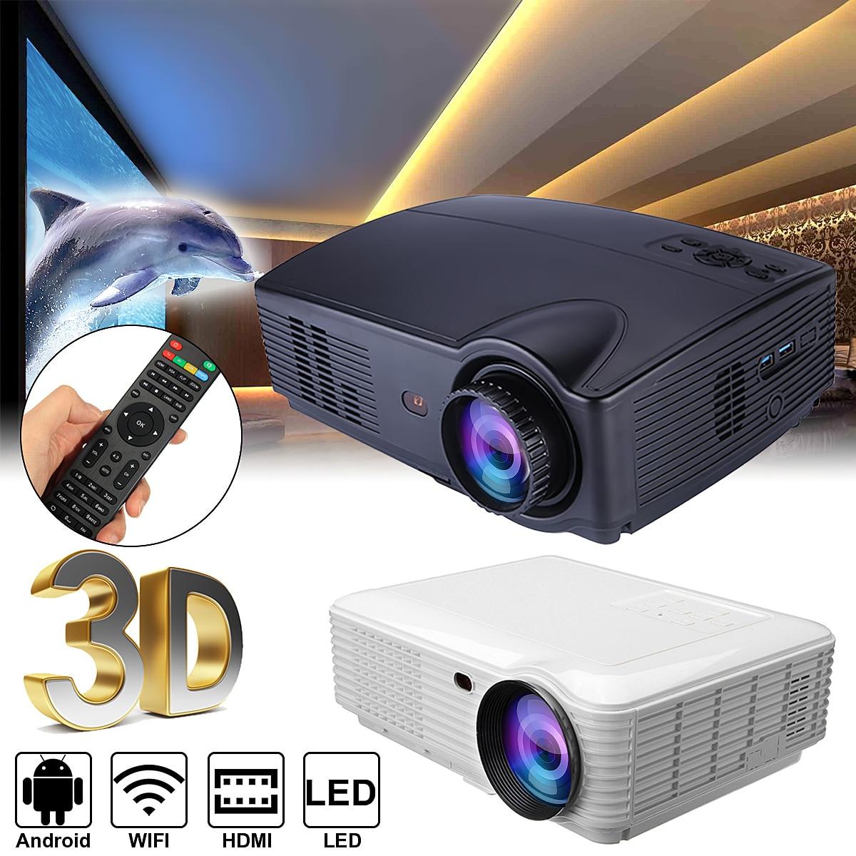SV 328 Wi Fi версия 4600 люмен ЖК дисплей Технология смарт проектор Цифровой Проектор для домашнего кинотеатра Поддержка аудио/видео ТВ