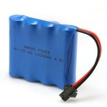 1 pack Anmas Power 1400mAh 4.8V Ni Cd Battery Rechargeable AA Nicd Batteries Pilhas Recarregaveis SM Connector
