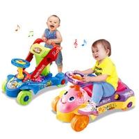 Baby Push Stand Rit Loopstoeltje Muzikale Activiteit Kids Baby Multifunctionele Rit Op Speelgoed