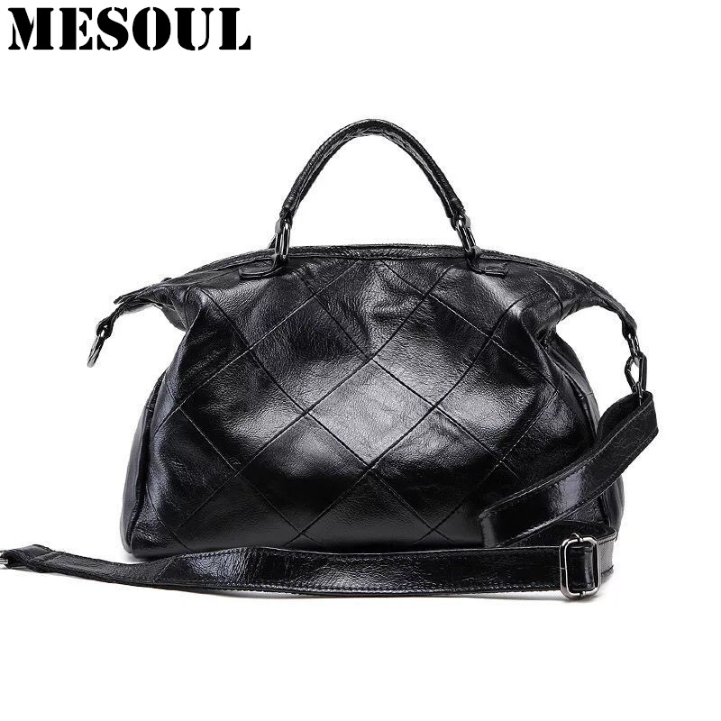 Classic Casual Handbags Genuine Leather Women Shoulder Bags High Quality Famous Brands Top-Handle Bags Stitching lattice TotesClassic Casual Handbags Genuine Leather Women Shoulder Bags High Quality Famous Brands Top-Handle Bags Stitching lattice Totes