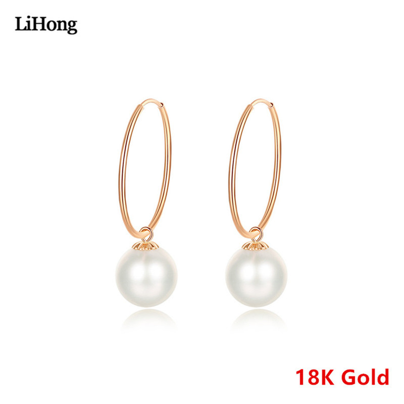 Star Design Pure Gold 18K Earrings Natural Pearl Earrings AU 750 Pure Gold High Jewelry For Wedding GiftsStar Design Pure Gold 18K Earrings Natural Pearl Earrings AU 750 Pure Gold High Jewelry For Wedding Gifts