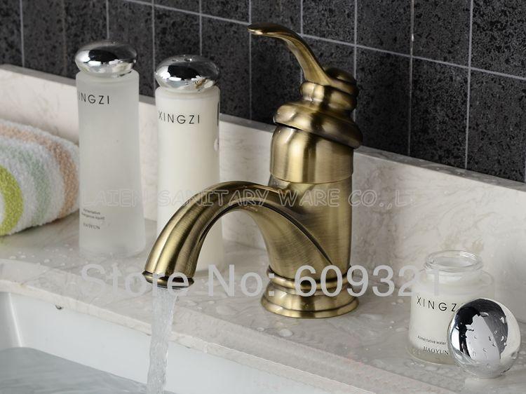 ФОТО Superfaucet antique brass vessel sink faucet Single Handle Modern Chrome Bathroom Vessel Sink Lavatory Basin Mixer Tap HG-1263