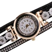 Important Scorching relogio feminino Girls Classic Vogue Crystal Band Bracelet Dial Quartz Gown Wrist Analog Watch jan20