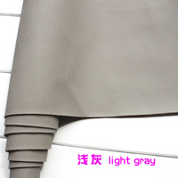 Light Gray Thick Faux Leather Fabric Imitation PU leather Car Interior Seats Sofa Upholstery 54 Sold By The Yard Free Shipping