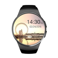 Top Deals Bluetooth Smart Watch, 1.3 inches IPS Round Touch Screen Water Resistant Smartwatch Phone with SIM Card Slot,Sleep M