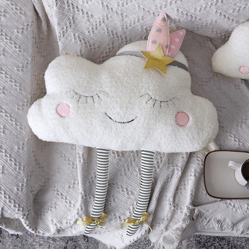 Cloud Baby Decorative Cushion for Sofa Chair Plush Toys Stuffed Doll Kids Room Decor Throw Pillows Car Back Cushions