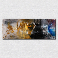 Wholesale Canvas prints Abstract art for sale craft oil painting printed for hotal Hall wall to hang, free shipping 16x40 inch