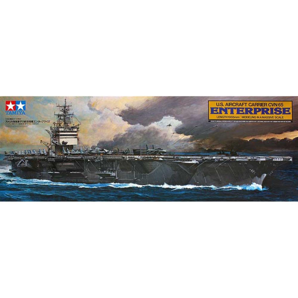 Tamiya 78007 1 350 US Aircraft Carrier CVN65 Enterprise Assembly Scale Military Ship Model Building Kits
