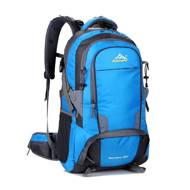 ca3ef9a6237a 50L Waterproof Outdoor Backpack Sport Bag Travel Laptop Daypack Camping  Cycling Hiking Backpack Climbing Rucksack for Men Women
