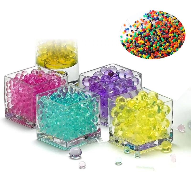 3000pcs Crystal Soil Hydrogel Polymer Gel Water Bead Flower Fertilizer Mud CF8D