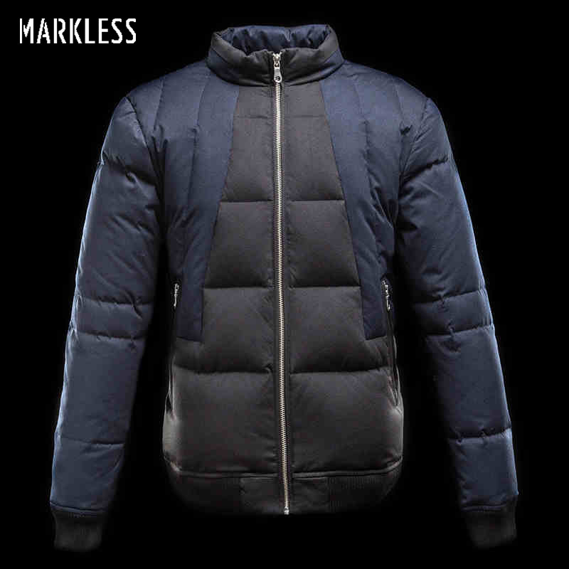 7840734938c65 Markless hombres pato blanco Abrigos de plumas marca ropa mens casual  Hombre patchwork Chaquetas Abrigos de plumas moda invierno abrigo en  Chaquetas de Down ...