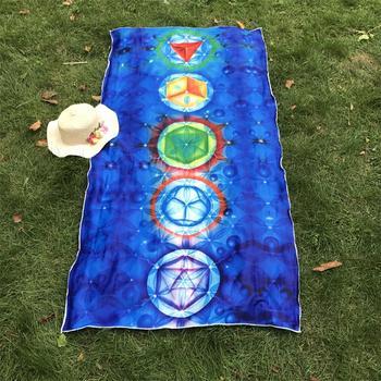 Better Quality Made Of Microfiber Bohemia India Mandala Blanket 7 Chakra Rainbow Tapestry Beach Towel Yoga Mat 2