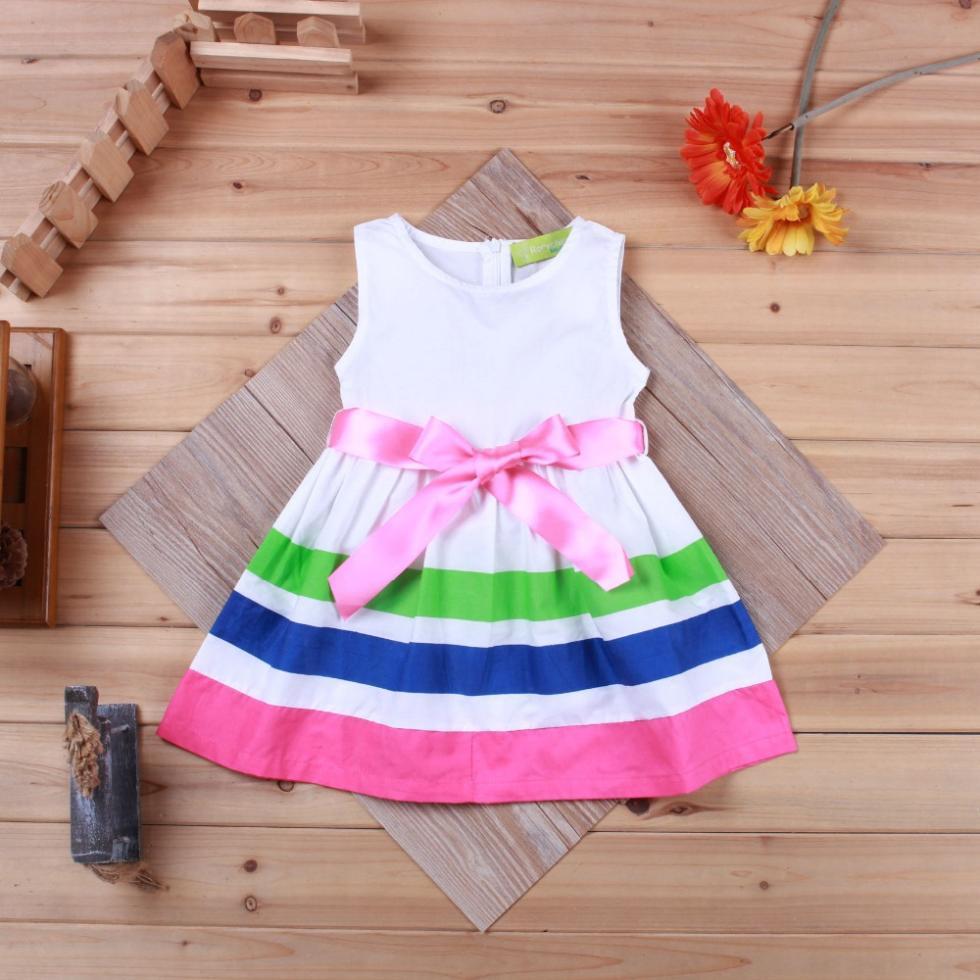 999754a8f5f13 Fashion Summer Girl Dress Full Print Fruit Sleeveless Children Dress ...