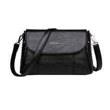 Women Handbag Leather Plaid Messenger bag Shoulder Small square Shoulder Bag Solid Color elegant zipper Messenger Bag Mummy Bag цена в Москве и Питере