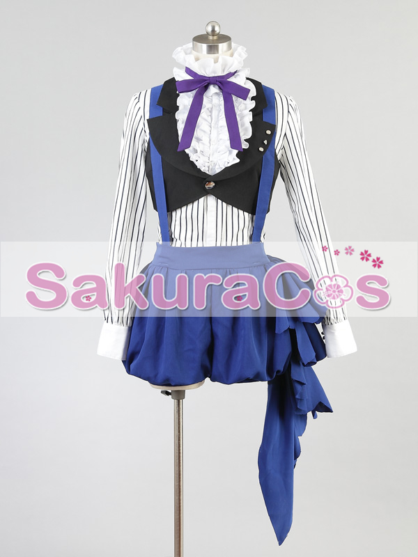 Anime! Black Butler Circus Ciel Phantomhive Uniform Cosplay Costume For Female/Male Daily Clothes Free Shipping