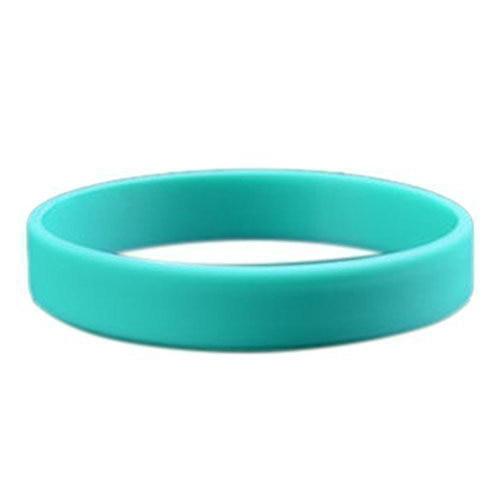 Pulsera elástica de goma de silicona de moda pulsera brazalete pulsera verde claro