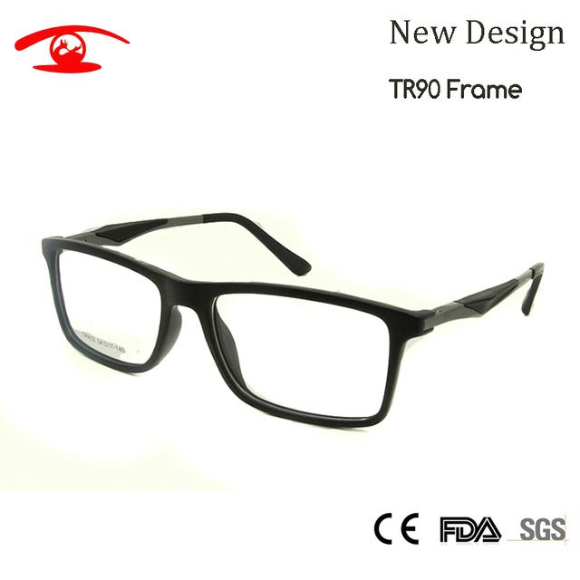 NUEVA Alta Calidad TR90 Enmarcan Men Marco de Anteojos Recetados Lentes del Empollón de Cristal Cuadrado Para Hombre Eyewear Frames