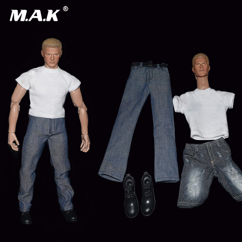 1/6 Scale Male Figure Accessory Denim Clothes Suit & Head Model for 12 inches Man Action Figure Body Accessory 1 6 scale male figure accessory clothes johnny english suit for 12 action figure doll not include head and body 16b2853