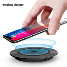 Qi Wireless Charger Pad, 10 W Nirkabel Cepat Pengisian untuk iPhone X 8 Plus untuk Samsung Galaxy Note 8 S8 S9 Plus S7 Desktop charger(China)
