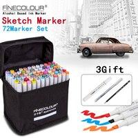 New 160 Color Marker Set 36 48 60 72 Design Mark Pen Animation Design Permanent Paint