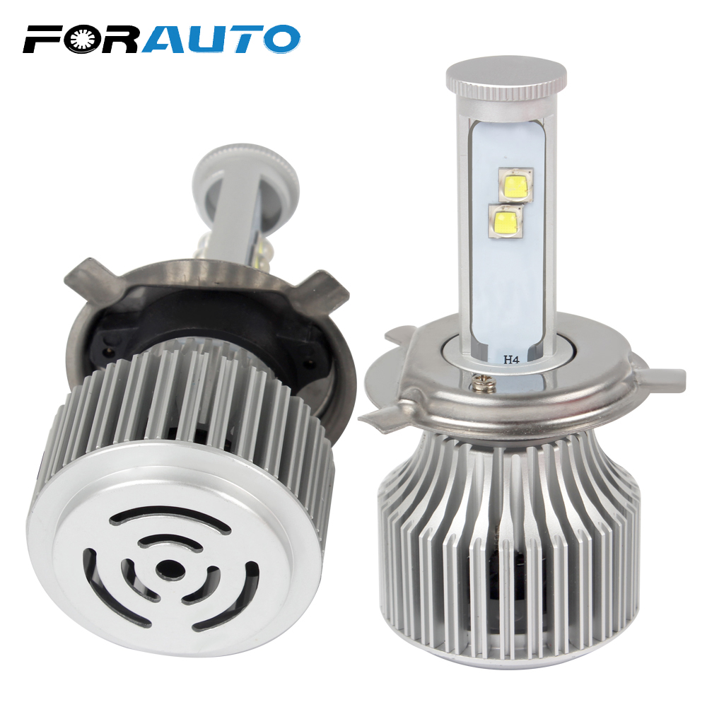 FORAUTO Headlamp All in one Super Bright Car Styling 6000K High Low Beam H4 60W/Each Bulb Hi/Lo Headlight Version of X7 LED
