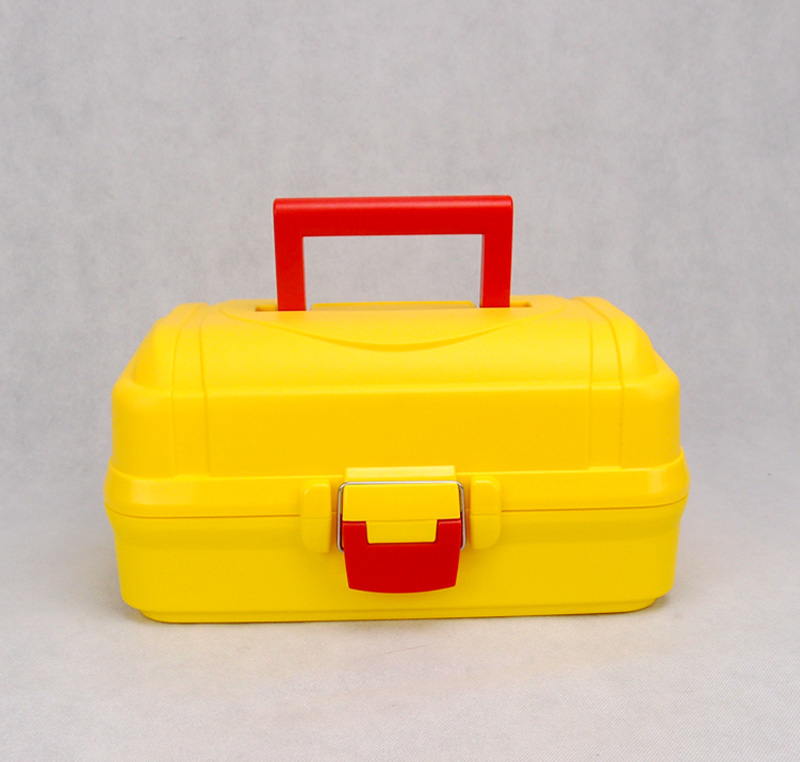 High-quality folding plastic toolbox medicine chest storage box cosmetic storage box art pair of vintage faux gem geometric earrings for women