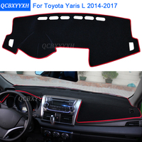 Car Styling Dashboard Protective Mat Shade Cushion Photophobism Pad Interior Carpet For Toyota Yaris L 2014