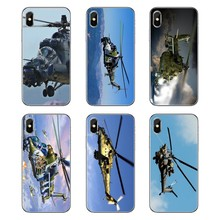 Soft TPU Phone Case Mil Mi 24 Hind Helicopter Military equipment For Samsung Galaxy Note 8 9 S9 S10 A8 A9 Star Lite Plus A6S A9S(China)