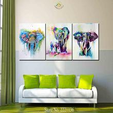 купить!  3 Шт. Африканский Слон и ребенок Современного Искусства Стены Холст Печатные Картины HD Отпечатки  Лучший!