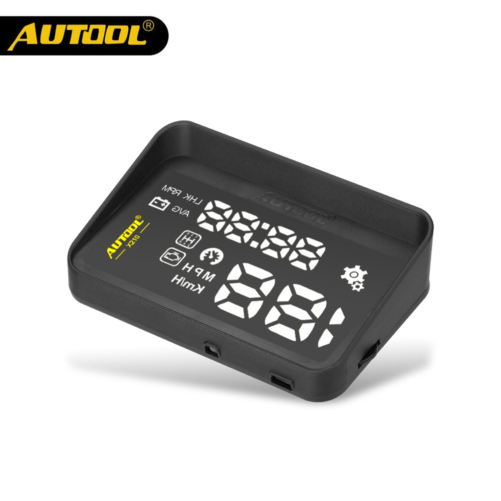 AUTOOL X210 Auto HUD Car Head Up Display Digital Speed Windshield Projector Vehicle Projection Automotive OBD 2 II Speedometer