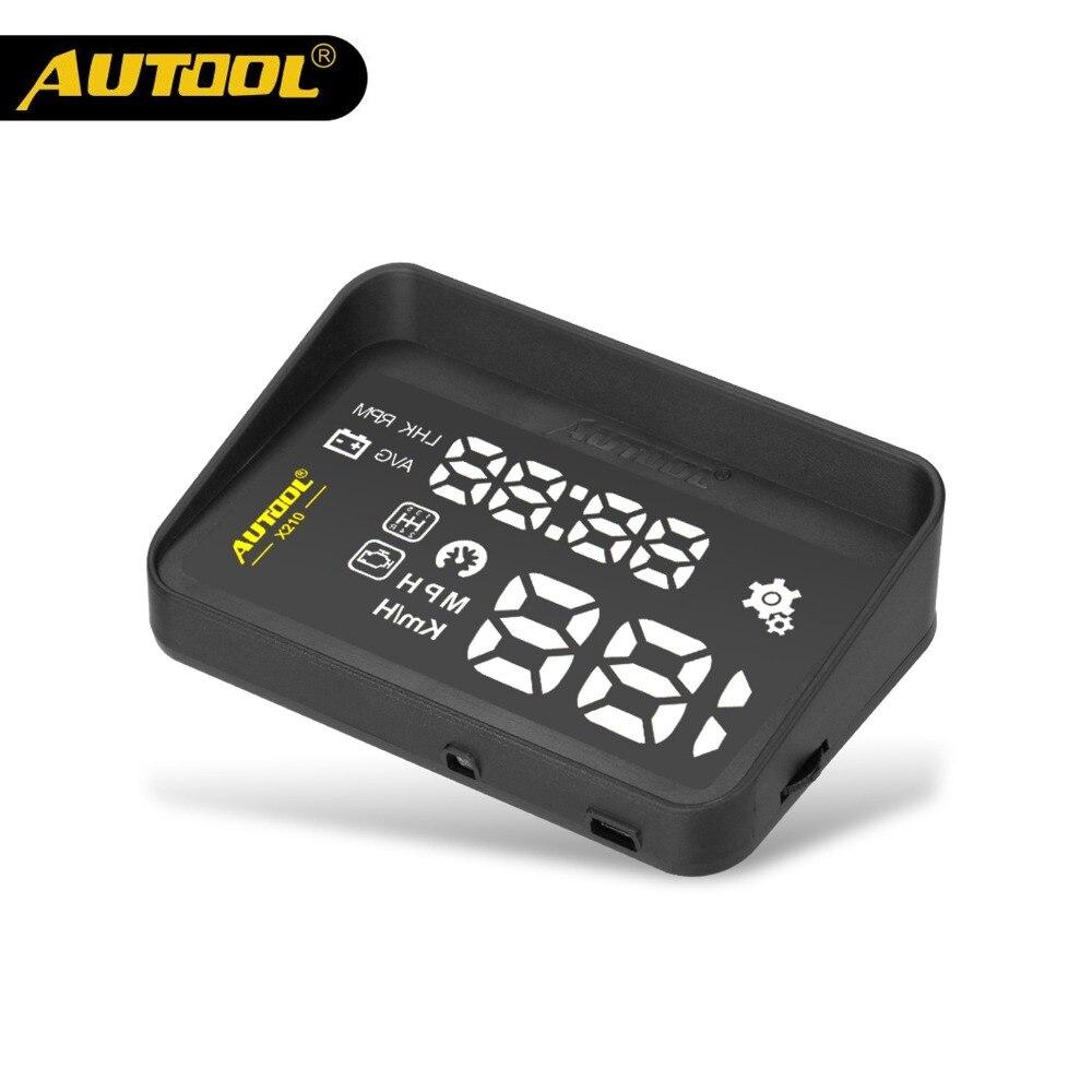 AUTOOL X210 Auto HUD Car Head Up Display Digital Speed Windshield Projector Vehicle Projection Automotive OBD 2 II Speedometer