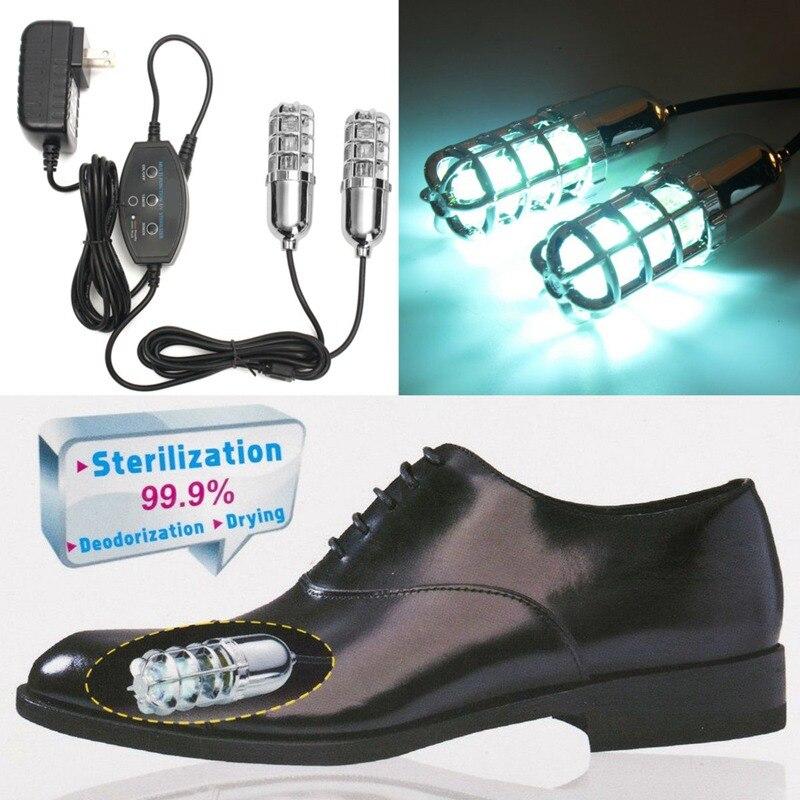 Sapatos Secador de Sapato Ultravioleta Esterilizador Elétrico portátil Dissipar Beribéri Remover o Odor Do Pé Sapatos Esterilização Lâmpada Casa